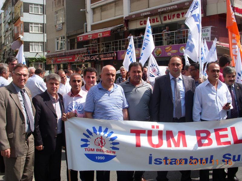 Fatih Belediyesi önünde sürgün