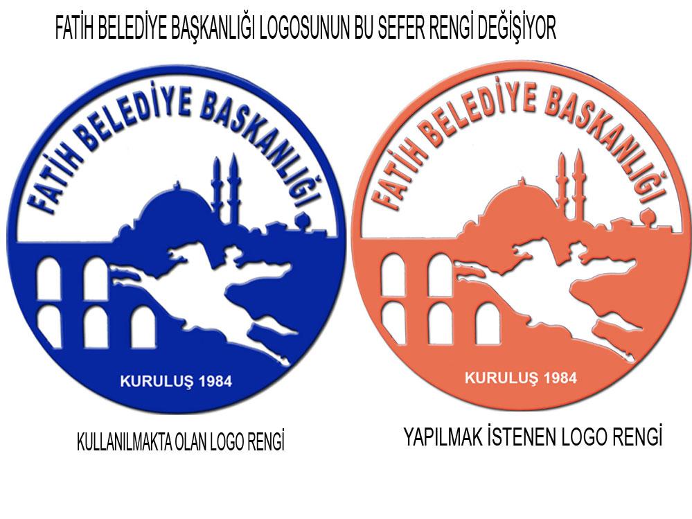 Fatih Belediyesi Logo Rengini Bizans ın Kurumsal rengi Olan Kiremit Rengine